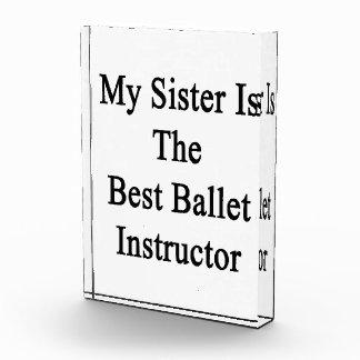 Mi hermana es el mejor instructor del ballet