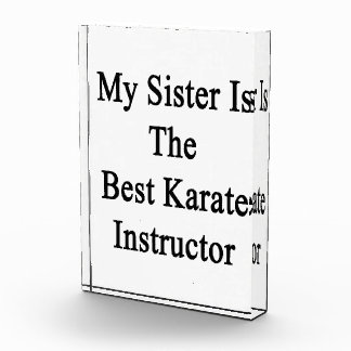 Mi hermana es el mejor instructor del karate