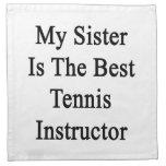 Mi hermana es el mejor instructor del tenis servilleta de papel