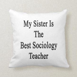 Mi hermana es el mejor profesor de la sociología almohadas