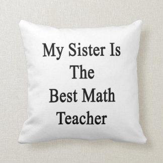 Mi hermana es el mejor profesor de matemáticas cojines