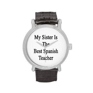 Mi hermana es el mejor profesor español relojes