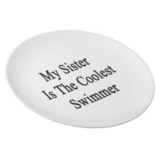 Mi hermana es el nadador más fresco platos