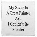 Mi hermana es gran pintor y no podría ser favorabl servilletas