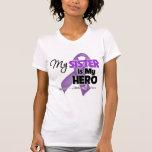 Mi hermana es mi héroe - cinta púrpura camiseta