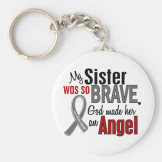 Mi hermana es un cáncer de cerebro del ángel 1 llavero redondo tipo pin