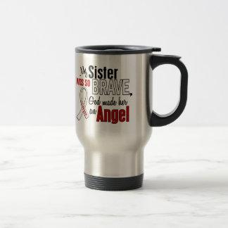 Mi hermana es un cáncer de pulmón del ángel taza de viaje de acero inoxidable