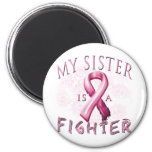 Mi hermana es un rosa del combatiente iman de frigorífico