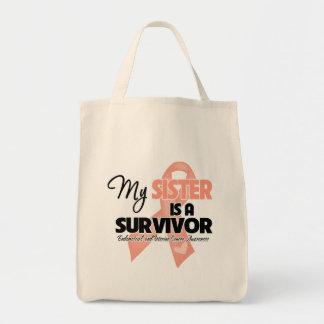 Mi hermana es un superviviente - cáncer uterino bolsa tela para la compra