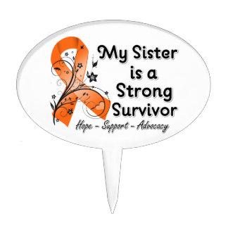 Mi hermana es una cinta fuerte del naranja del sup figuras para tartas