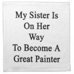 Mi hermana está en su manera de hacer gran pintor servilletas imprimidas
