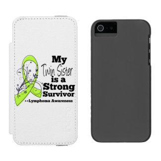 Mi hermana gemela es un superviviente fuerte del funda billetera para iPhone 5 watson