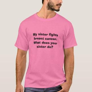 Mi hermana lucha el cáncer de pecho.  Qué hace su… Playera