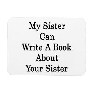Mi hermana puede escribir un libro acerca de su he imán