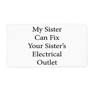 Mi hermana puede fijar el mercado eléctrico de su etiqueta de envío