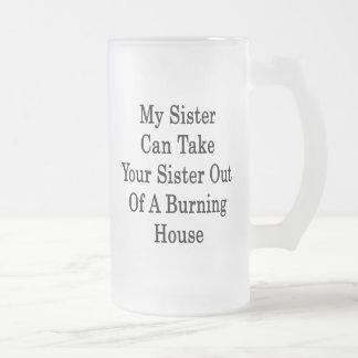 Mi hermana puede sacar a su hermana de A que quema Tazas