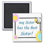 ¡mi hermana tiene la mejor hermana! imanes