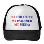 Mi hermano, mi soldado, mi héroe gorros