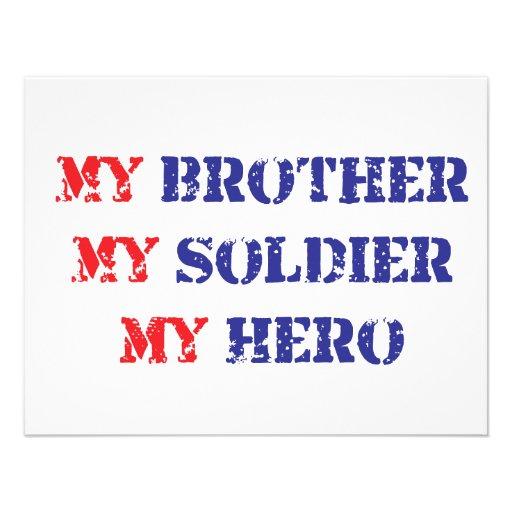 Mi hermano, mi soldado, mi héroe invitacion personal