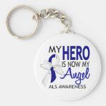 Mi héroe es mi ALS del ángel Llavero Redondo Tipo Pin