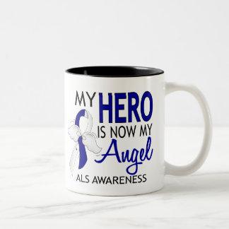 Mi héroe es mi ALS del ángel Taza De Dos Tonos