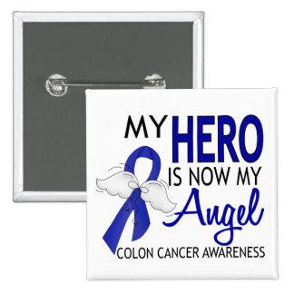 Mi héroe es mi cáncer de colon del ángel pin cuadrada 5 cm