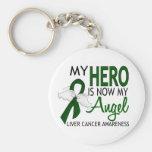 Mi héroe es mi cáncer de hígado del ángel llavero personalizado
