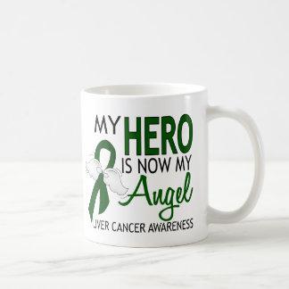 Mi héroe es mi cáncer de hígado del ángel taza clásica