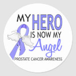 Mi héroe es mi cáncer de próstata del ángel etiquetas redondas