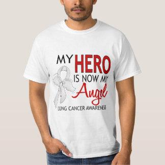 Mi héroe es mi cáncer de pulmón del ángel remera