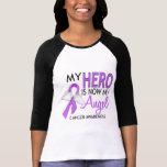 Mi héroe es mi cáncer del ángel camisetas