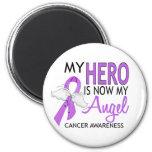 Mi héroe es mi cáncer del ángel iman para frigorífico