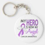 Mi héroe es mi cáncer del ángel llavero personalizado