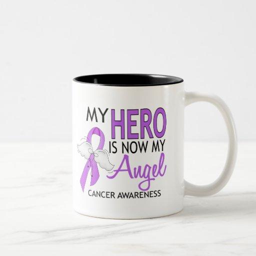 Mi héroe es mi cáncer del ángel tazas