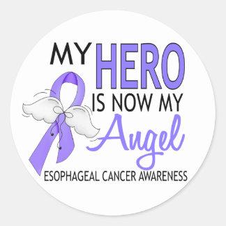 Mi héroe es mi cáncer del esófago del ángel pegatina redonda