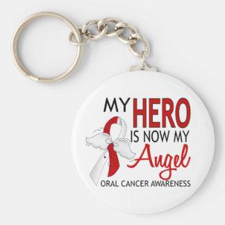Mi héroe es mi cáncer oral del ángel llavero redondo tipo pin
