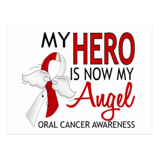 Mi héroe es mi cáncer oral del ángel tarjetas postales