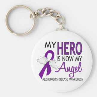 Mi héroe es mi enfermedad de Alzheimer del ángel Llavero Redondo Tipo Pin