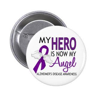 Mi héroe es mi enfermedad de Alzheimer del ángel Pin Redondo 5 Cm