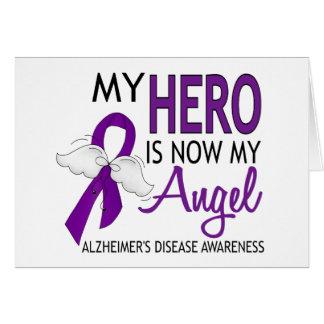 Mi héroe es mi enfermedad de Alzheimer del ángel Felicitación