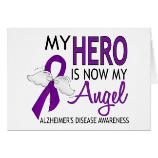Mi héroe es mi enfermedad de Alzheimer del ángel Tarjeta De Felicitación