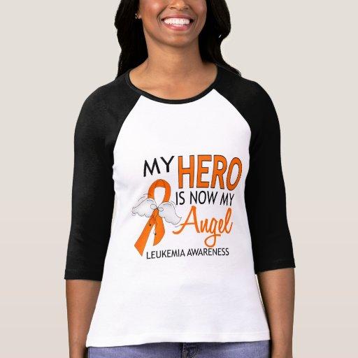 Mi héroe es mi leucemia del ángel camiseta