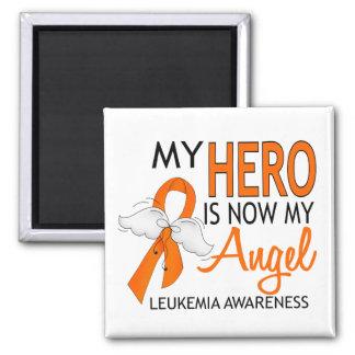 Mi héroe es mi leucemia del ángel imán cuadrado