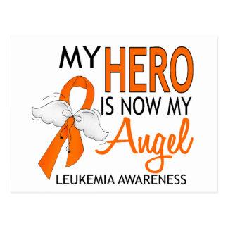 Mi héroe es mi leucemia del ángel tarjetas postales