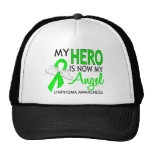 Mi héroe es mi linfoma del ángel gorras de camionero