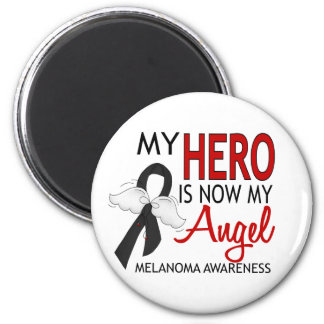 Mi héroe es mi melanoma del ángel imán redondo 5 cm