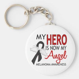 Mi héroe es mi melanoma del ángel llavero redondo tipo pin
