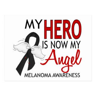 Mi héroe es mi melanoma del ángel tarjetas postales