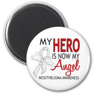 Mi héroe es mi mesotelioma del ángel imán redondo 5 cm