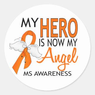 Mi héroe es mi ms del ángel etiqueta redonda